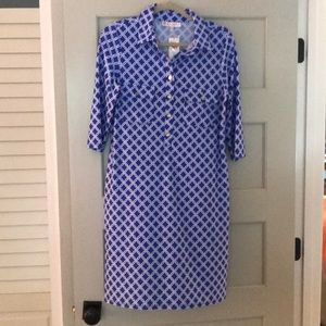Jude Connally Sloane NWT Dress Sapphire Blue Lg
